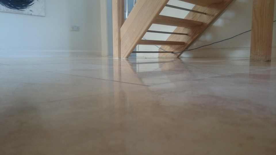 Travertine Floor Restoration in Crawley, Surrey
