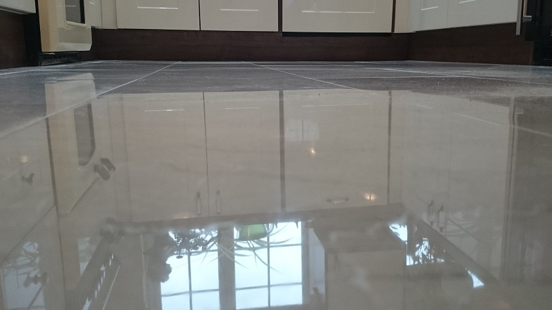 Highly Polished Marble Floor