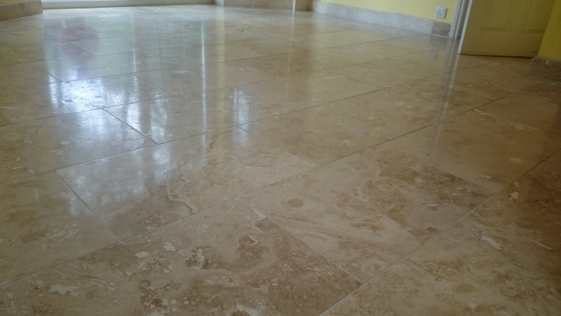 Travertine Floor Restoration in Kingswood, Surrey