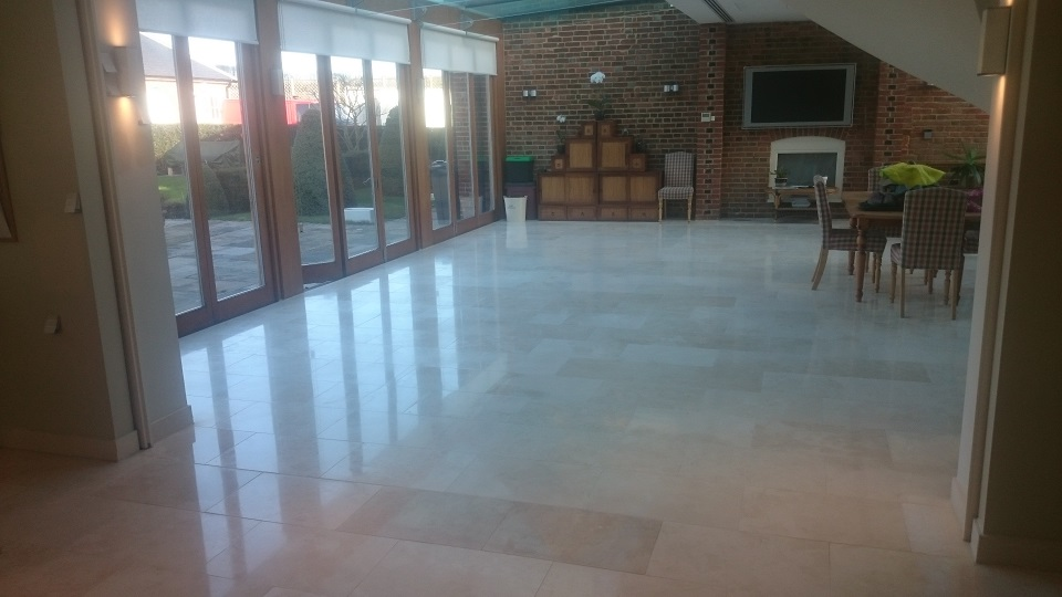 After Travertine Floor Restoration In Kent