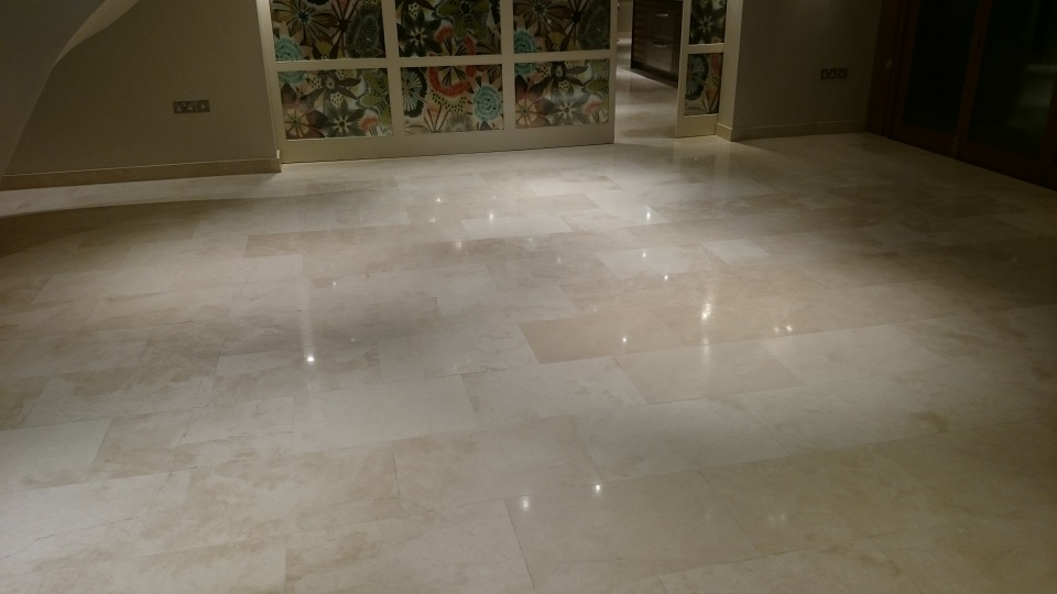 Travertine Floor In Mereworth, Kent