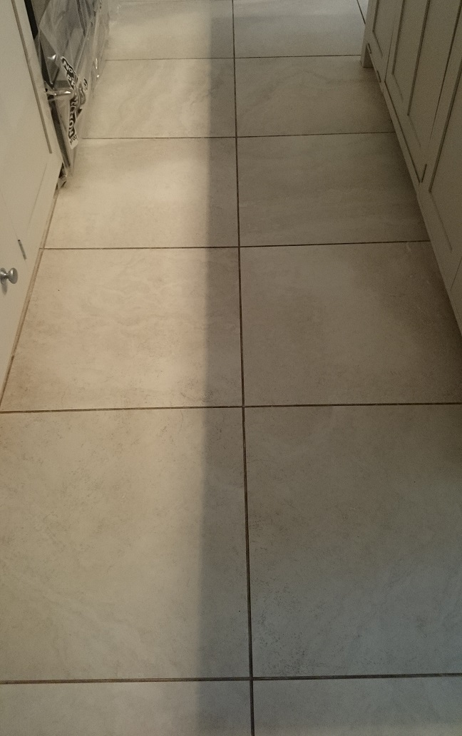Dirty Porcelain Floor, Prior to Cleaning