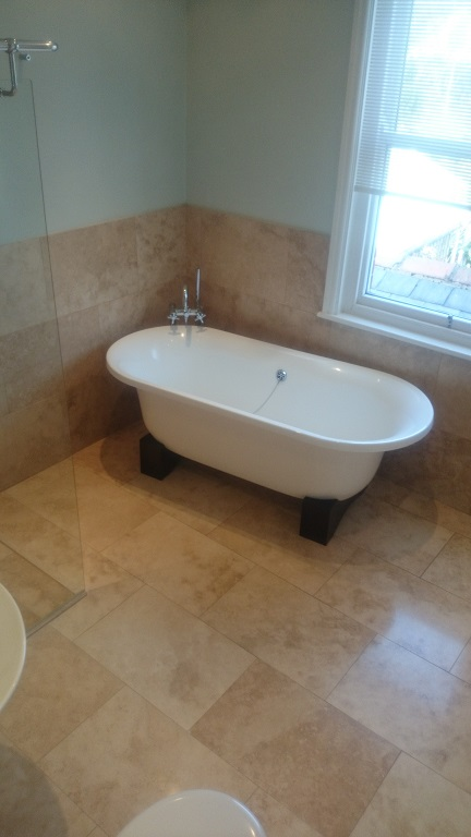 Travertine Bathroom Cleaning